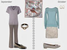 Wearing Hermes Petit Duc Silk Scarf All Year - July through December
