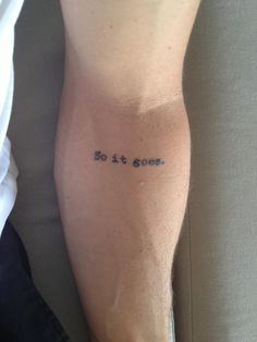 So it Goes #75, 76, 77 - Contrariwise: Literary Tattoos