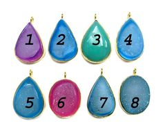 24 kt Gold Plated Druzy Pendants 1 piece of fine by finegemstone, $18.00