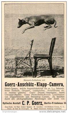 Original-Werbung/Inserat/ Anzeige 1902 - GOERZ ANSCHÜTZ KLAPP-CAMERA  - ca. 90 x 150 mm