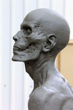 ArtStation - Dark Shadows / Vampire Victim Sculpt, Hatch Effects Face Anatomy, Anatomy Drawing, Anatomy Art, Anatomy Reference, Art Reference, Zombies, Arte Zombie, Anatomy Sculpture, Traditional Sculptures