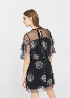 Floral tulle dress | MANGO