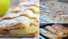 Almás rétes túrós tésztából German Cake, Apple Pie, French Toast, Muffin, Dessert Recipes, Cooking Recipes, Dishes, Treats, Breakfast