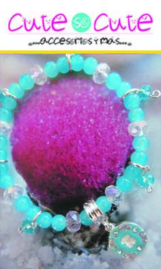 Te gusta el color azul? Entonces esta pulsera es ideal para ti.  Con dije de Tous, cristal y piedras azules hacen la combinación perfecta!!!  El color azul claro nos hace sentir tranquilos y protegidos de todo el alboroto y las actividades del día, ayuda a controlar la mente, a tener claridad de ideas y a ser creativo. #CuteSoCute