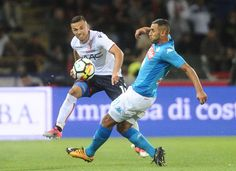 Federico Di Francesco of Bologna FC in action during the Serie A match between Bolgna FC and SSC Napoli at Stadio Renato Dall'Ara on September 10, 2017 in Bologna, Italy..2:10