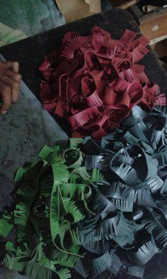 Produktion Leder Flip-Flop Kollektion
