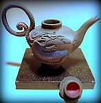 Black dragon Tea, lid detail