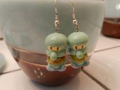 Funky Earrings, Diy Earrings, Polymer Clay Earrings, Earrings Handmade, Weird Jewelry, Funky Jewelry, Cute Jewelry, Creations, Jewellery