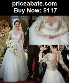 Wedding-Dresses: 2015 New White Ivory Lace Wedding Dress Bridal Gown Custom Size6 8 10 12 14 16++ - BUY IT NOW ONLY $117