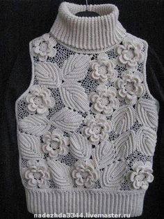 Fabulous Crochet a Little Black Crochet Dress Ideas. Georgeous Crochet a Little Black Crochet Dress Ideas. Freeform Crochet, Crochet Motif, Crochet Designs, Crochet Flowers, Crochet Lace, Pull Crochet, Mode Crochet, Point Lace, Crochet Blouse