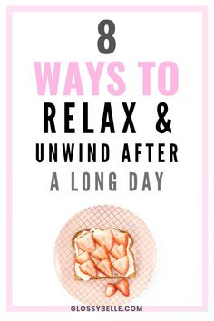 We all have days where we feel overwhelmed and stressed. Learn how to unwind relax after a long, stressful day with these 8 easy tips in this post. Wellness Tips, Health And Wellness, Mental Health, Healthy Mind, Healthy Habits, Yoga For Stress Relief, Feeling Stressed, Ways To Relax, Loving Your Body