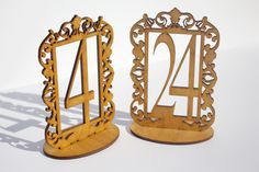 If you are looking for something Beautiful and really Unique, these Wooden Table Numbers are perfect! They are laser cut and made of Real Wood. They will surely leave a lasting impression on your guests.