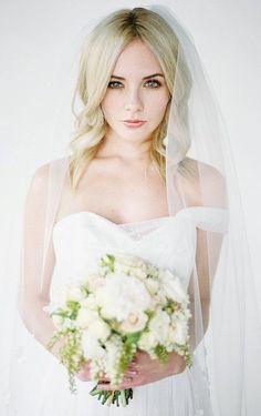 HOLLY Fingertip Wedding Veil Ivory Bridal Veil