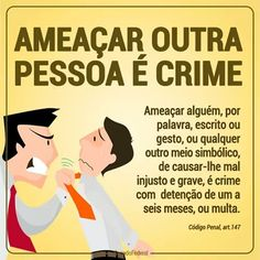 Crime de ameaça. Leis, Learning Games, Home Schooling, Student Life, Business Management, Study Tips, Economics, Law Of Attraction, Crime