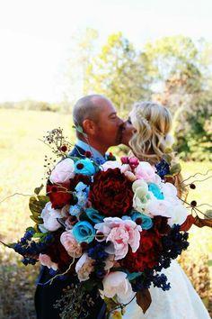 2015 Beautiful Wedding Bouquets Navy, Maroon, Light Pink, and Ice Blue Wedding - Beautiful Wedding Bouquet. Popular Wedding Flowers 2015