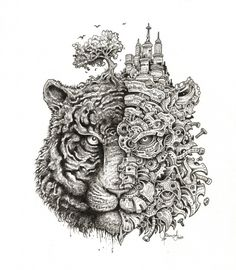 Meet Kerby Rosanes and His Insanely Intricate Drawings
