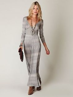 Free People Diamond Stripe Long Romper at Free People Clothing Boutique - StyleSays