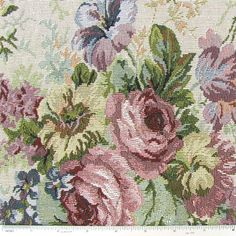 DEC- Natural Floral Tapestry Home Decor Fabric - Hobby Lobby