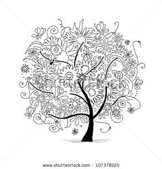 Trees Adult Coloring Pages