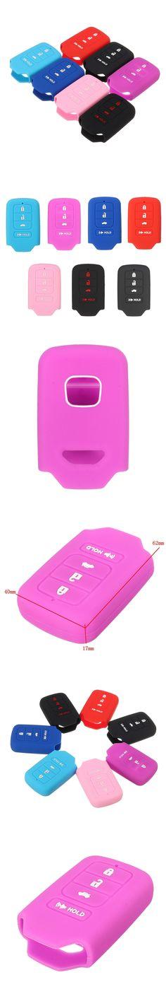 Silicone 4 Button Car Remote Key Case Cover Fob Keyless Cover Case For Honda/Civic/EX/Accord/CR-V CR-Z PILOT