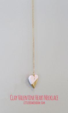 Clay Valentine's Day Heart Pendant