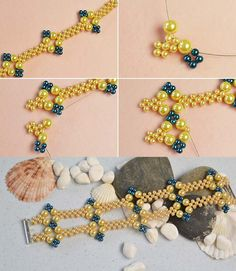 Like the yellow pearl bracelet? The tutorial will be published by LC.Pandahall.com