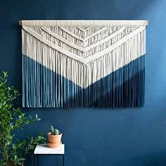 Boho chic style and made of natural cotton rope. The beautiful dye technique makes this one a very special feature in your home. This blue version represents the Feng Shui element of Wood.  Found this on Amazon UAE for you. #ad #fengshui #wellness #fengshuihome #fengshuidecor #fengshuitips