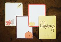Journaling Cards by wildolive, via Flickr