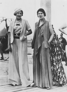 Vintage Fashion Look How Beautiful These Super High Waist Vintage Pants! Fascinating Pictures of Women in Trousers from the 1930s Fashion, French Fashion, Retro Fashion, Vintage Fashion, Womens Fashion, Fashion Fall, Modern Fashion, Boho Fashion, Fashion Dresses