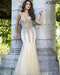 Strapless mermaid gown 5908