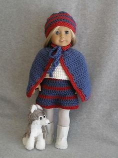 """Ravelry: American Girl 18"""" doll Cape & Skirt Outfit pattern by Ase Bence"""