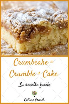 crumbcake crumble recette facile cake mi la CRUMBCAKE MI CRUMBLE MI CAKE la recette facileYou can find Crumb cake recipes and more on our website Chewy Sugar Cookie Recipe, Chip Cookie Recipe, Cookie Recipes, Dessert Recipes, Bananas Foster French Toast, Patisserie Cake, American Desserts, Icebox Cake, Mini Desserts