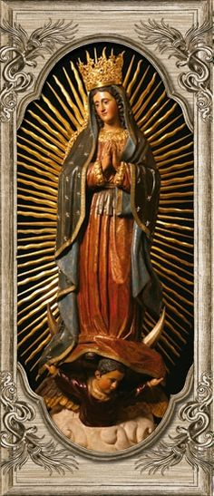 Imagen de la Virgen de Guadalupe, venerada en su Santuario en Guatemala.