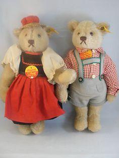 Steiff Bears Boy Girl Dirndl