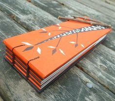 Autumn Twigs - handbound notebook - recycled and repurposed. $18.00, via Etsy.