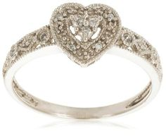 10k White Gold Diamond Heart Ring (0.04 cttw, I-J Color, I2-I3 Clarity) Amazon Curated Collection, http://www.amazon.com/dp/B000XECJJI/ref=cm_sw_r_pi_dp_arH1qb1W5KF5A