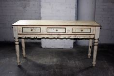 white+antique gold console  [From The Vintage Type rentals]