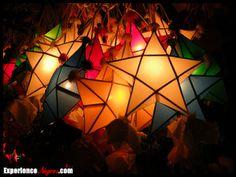 Filipino capiz Christmas star lanterns