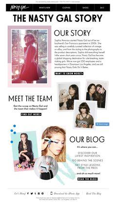 Nasty Gal  | welcome | WelcomeEmails | emailmarketing | email | newsletter | welcome newsletter | welcome email | WelcomeEmail | relationship emails | emailDesign