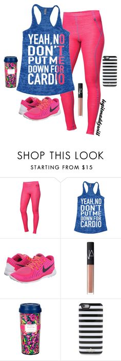 """""""workout set//"""" by legitmaddywill ❤ liked on Polyvore featuring moda, Helly Hansen, NIKE, NARS Cosmetics, Lilly Pulitzer, Kate Spade, women's clothing, women's fashion, women ve female"""