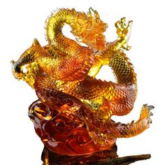 Zodiac (Dragon of Authority) - An Overwhelming Force from the East | Deluxe Collectible Glass Art | Liuli Crystal Art