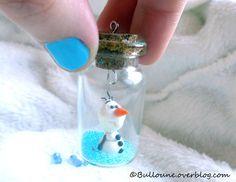la reine des neige en bille - Bing Images Miniature Bottles, Miniature Crafts, Bottle Charms, Bottle Art, Fimo Clay, Polymer Clay Projects, Fnaf Crafts, Casa Lego, Baby Clip Art