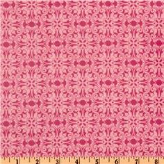 Pretty Laminated Cotton Lace Pink fabric.  Great spring tablecloth.