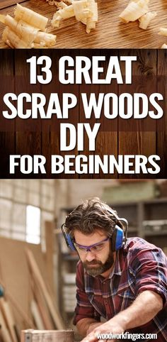 13 Great Scrap Wood Projects DIY For Beginners If you have any wood scraps you can lay your hands on, don't throw them away -- make something cool out of them. Scrap Wood Crafts, Scrap Wood Projects, Cool Woodworking Projects, Woodworking Tips, Diy Projects, Woodworking Furniture, Wooden Crafts, Pallet Projects, Furniture Projects