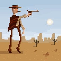 Gun Shooter pixel art by ~brianhuff on deviantART