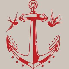 Anchor & Sparrows; so I posted this a few days ago on my Ahoy board. I'm thinking seriously about an anchor or compass star behind my knot, with sparrows flanking.