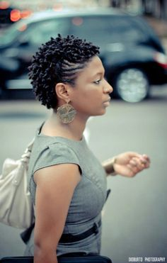 Cute short natural hair style