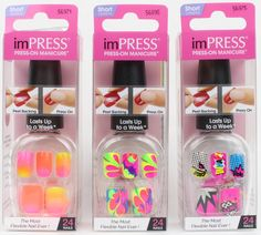 Experience Just How Far Press On Nails Have Come With Neon imPRESS Manicure by Broadway Nails | Review Broadway Nails, Kiss Nails, Press On Nails, Hair And Nails, Adhesive, Nail Art, Manicure Ideas, Acrylics, Ongles
