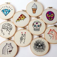 pleins de broderie illuminatis pizza mexican skull catch