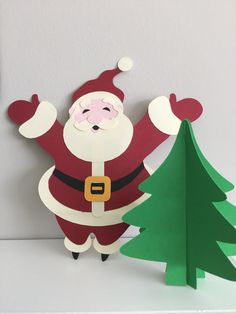 office decorations, Christmas Crafts Circuit and Silhouette cut files for free Santa, gingerbread men, 3d trees, Christmas count down
